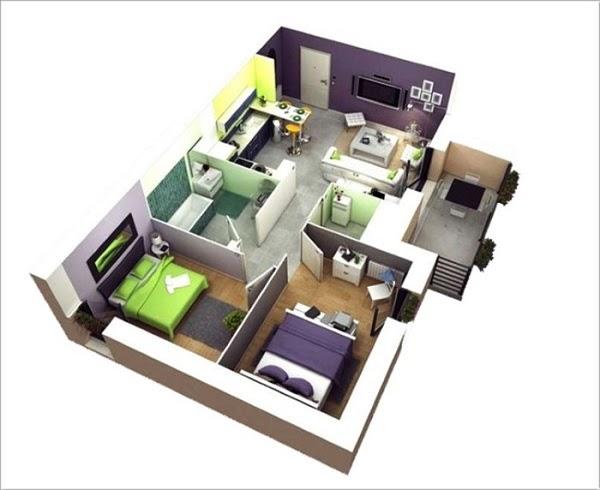 Mẫu thiết kế chung cư 60m2
