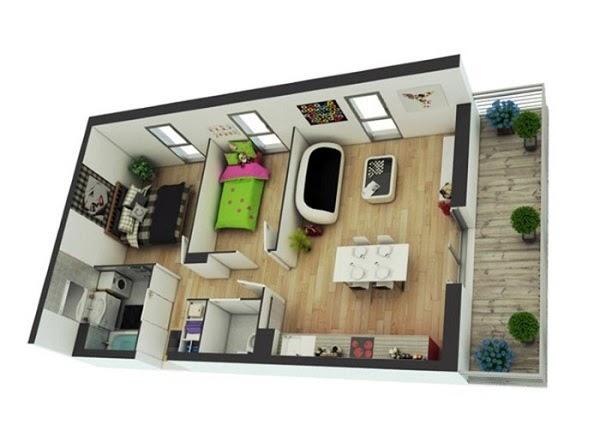 Mẫu thiết kế căn hộ chung cư độc đáo, sáng tạo