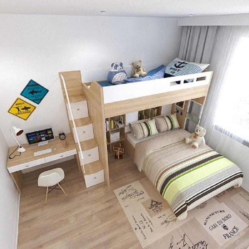 Phòng ngủ bé chung cư 2 phòng ngủ