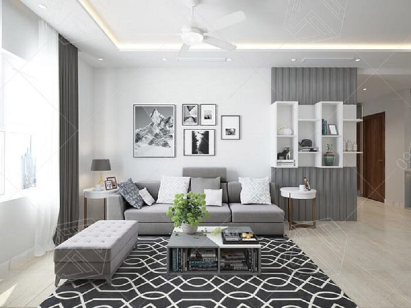 Mẫu thiết kế chung cư 60m2 2 phòng ngủ