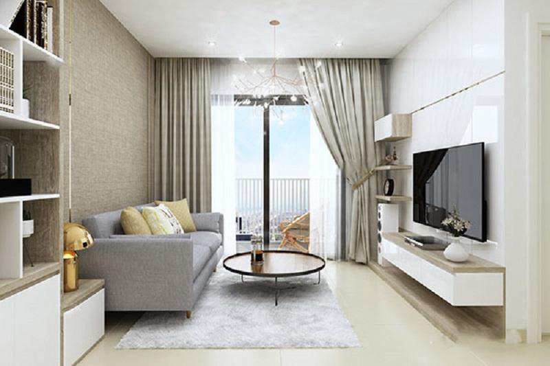 Mẫu thiết kế chung cư 50m2 2 phòng ngủ
