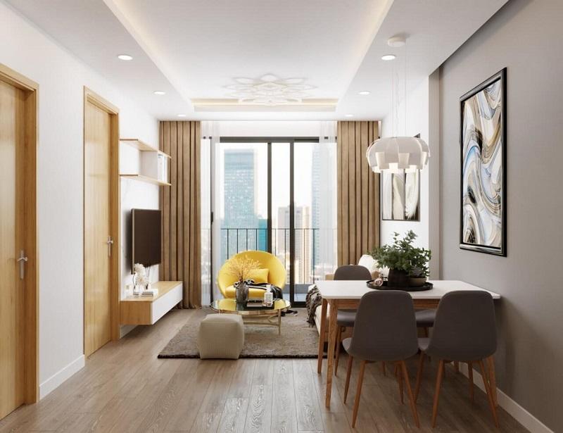 Thiết kế chung cư 1 phòng ngủ đơn giản