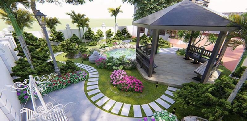 Nguyên lý thiết kế biệt thự sân vườn