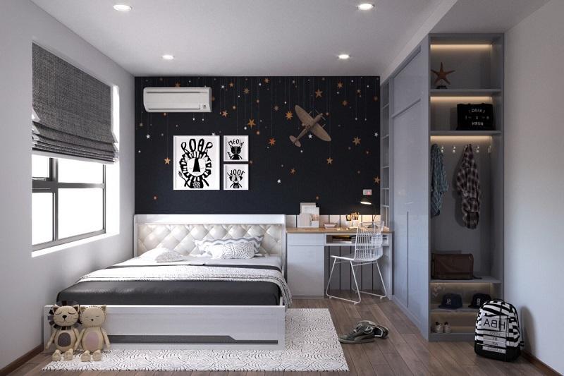 Phòng ngủ bé trai chung cư 3 phòng ngủ