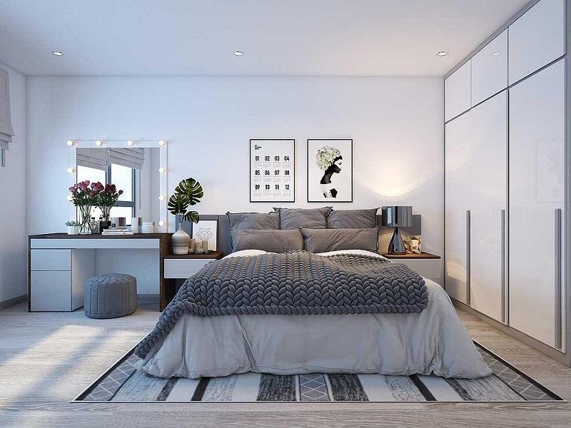 Phòng ngủ master chung cư 3 phòng ngủ