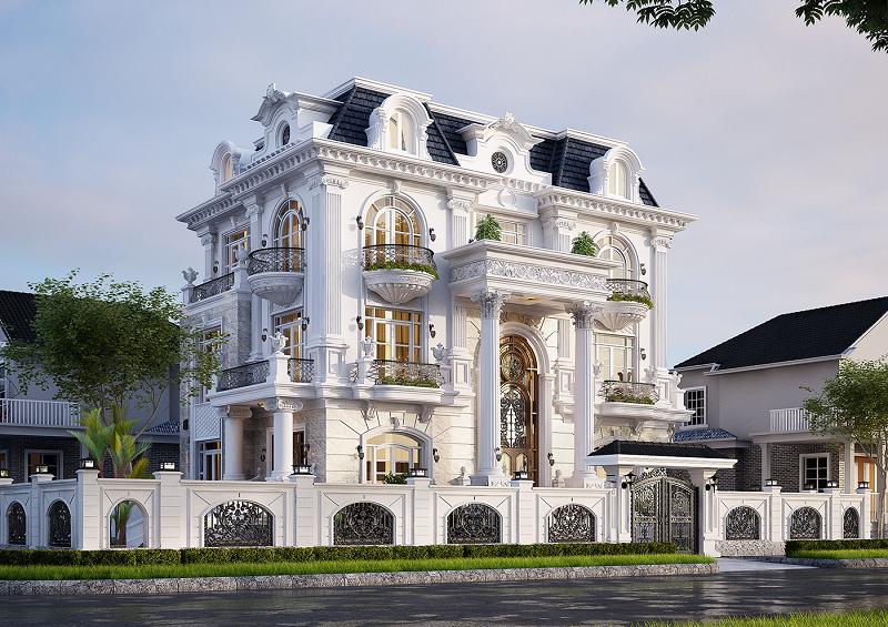 Các mẫu thiết kế biệt thự cổ điển