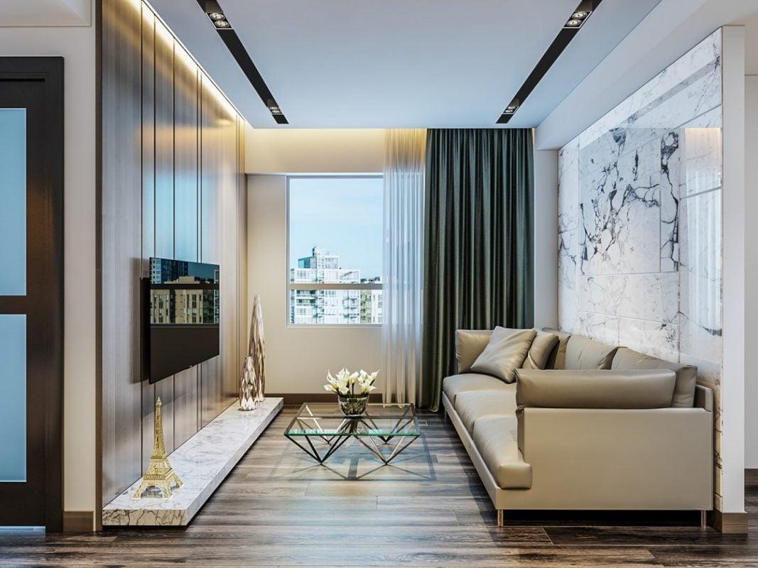 Phòng khách chung cư 50m2