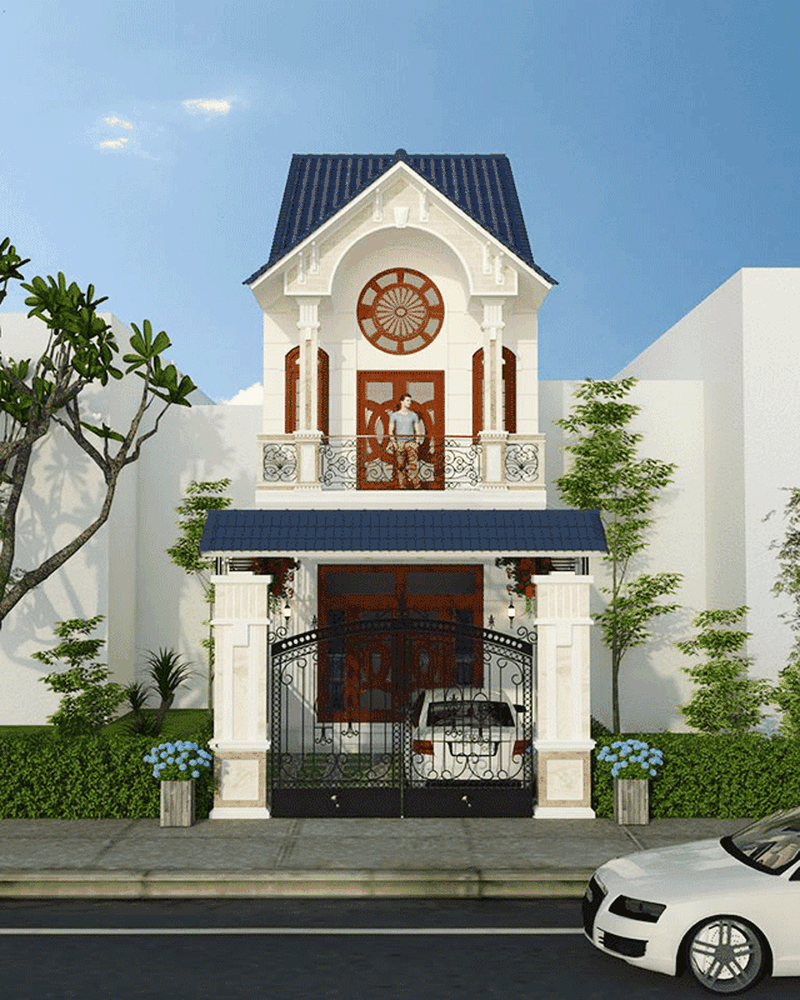 Nhà phố kiểu Pháp hai tầng