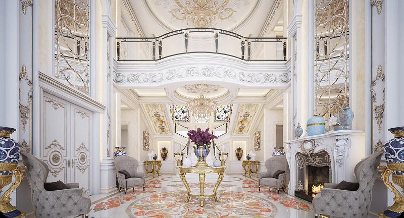 Nội thất cho thiết kế biệt thự ba tầng cổ điển