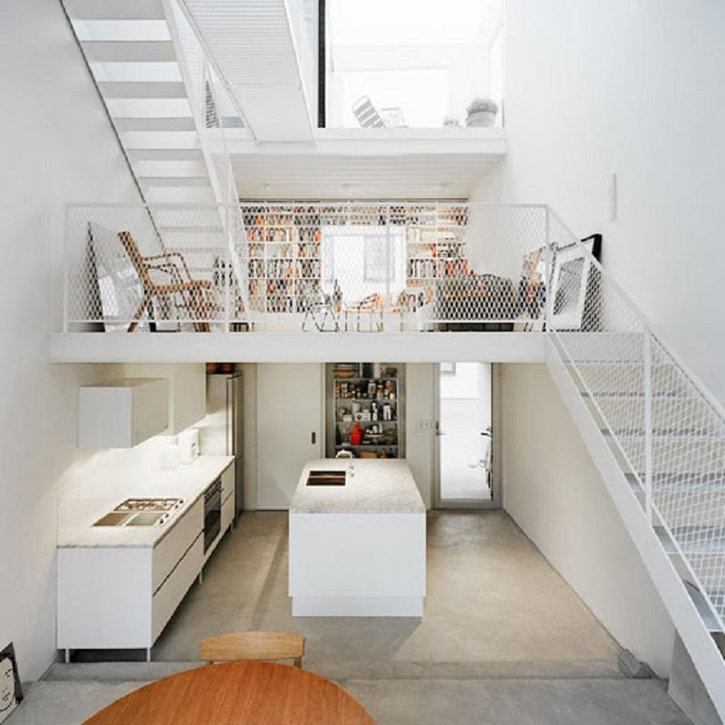 Công năng của gác trong thiết kế nhà phố 3 tầng có gác lửng